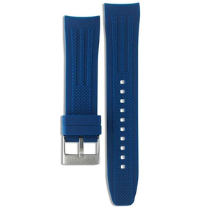 Accurist Replacement 24mm Blue Rubber Strap For MB1023N