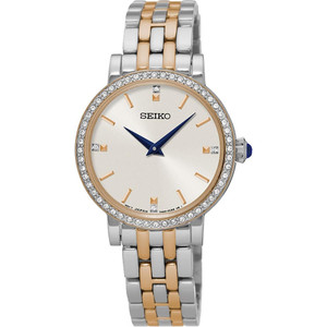 Seiko Ladies Swarovski Crystal Two-Toned Stainless Steel Watch SFQ810P1