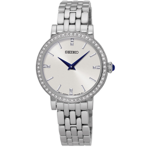 Seiko Ladies Swarovski Crystal and Stainless Steel Watch SFQ811P1