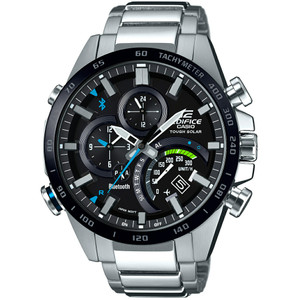 Casio Edifice Analogue Bluetooth Watch Tough Solar Black EQB-501XDB-1AER