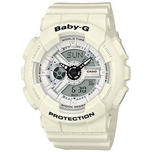 Baby-G Punching Pattern White Watch BA-110PP-7AER