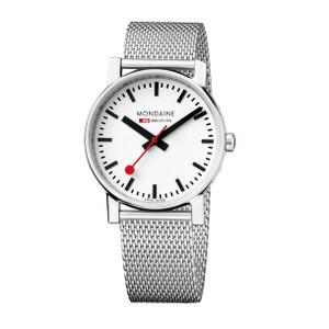 Mondaine Evo Gents Mesh Bracelet Quartz Watch A658.30300.11SBV front