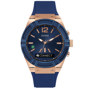 Guess Unisex Connect Bluetooth Hybrid Blue Silicone Strap Watch C0001G1