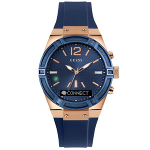 Guess Unisex Connect Bluetooth Hybrid Blue Silicone Strap Watch C0002M1