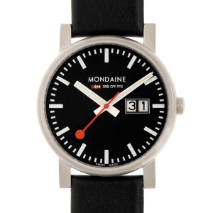 Mondaine Evo Gents Leather Strap Watch With Big Date Display A669.30300.14SBB