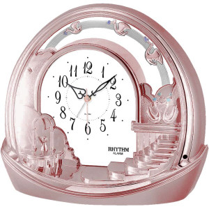 Rhythm Mantel Alarm Clock In Rose Gold Finish 4SE443WD13