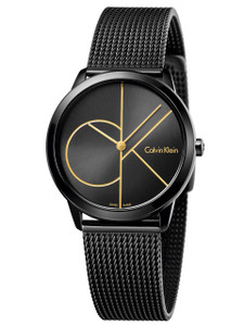 Calvin Klein Men's Minimal Black Dial Watch K3M214X1