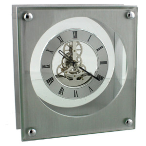 Widdop Square Mantel Clock With Skeleton Dial W2611