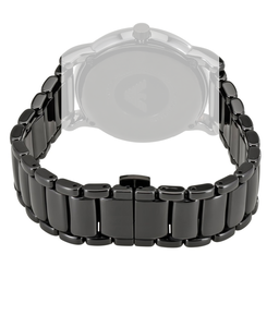 Armani Replacement Watch Bracelet For AR1508 Black Ceramic With Free Connecting Pins