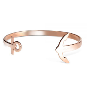 Paul Hewitt Ladies Ancuff Rose Gold Bracelet Medium PH-CU-R-M
