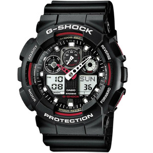 Casio G-Shock Analog Digital Combi World-Time Watch GA-100-1A4ER Black