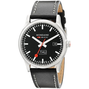 Mondaine Sports Gents Day Date Leather Strap Watch A667.30308.19SBB