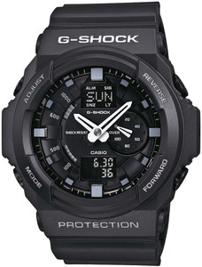 Casio G-Shock Black World Time Chronograph Alarm Watch GA-150-1AER