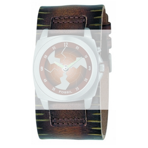 Fossil Brown Leather Replacement Watch Cuff For BG1079