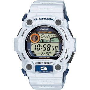 White G-Shock Rescue Tide Watch Moon Age World Time G-7900A-7ER
