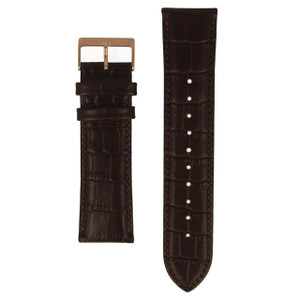 Hugo Boss Replacement Watch Strap Brown Genuine Leather 24mm For HB.233.1.34.2739 With Free Connecting Pins