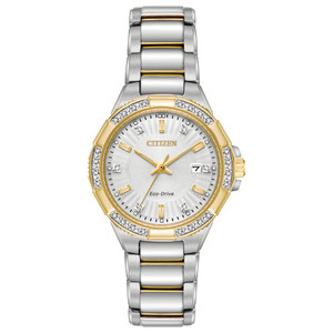 Citizen Eco-Drive Ladies Diamond Two-Tone Watch EW2464-55A