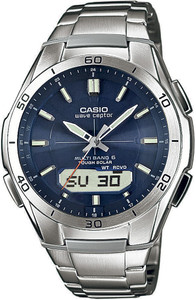 Casio Wave Ceptor Solar Powered Radio Controlled Watch WVA-M640D-2AER