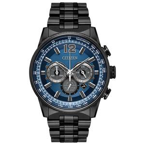 Citizen Eco-Drive Men's Nighthawk Blue Dial Chronograph Watch CA4375-59L
