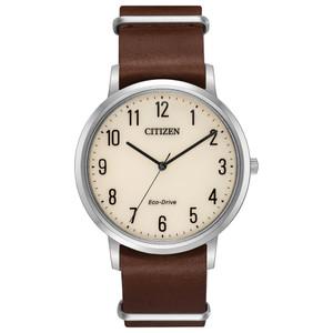 Citizen Eco-Drive Men's Chandler Leather Strap Watch BJ6500-21A