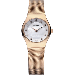 Bering Rose Gold Mother of Pearl Ladies Watch 11923-366