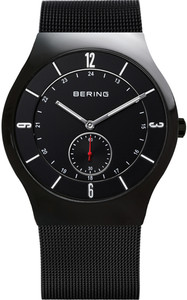 Bering Black Mesh Strap Mens Watch 11940-222