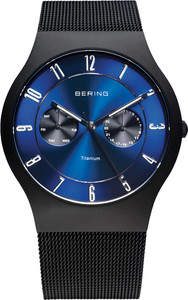 Bering Black Titainium Mens Watch 11939-078