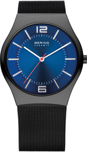 Bering Blue Dial Mesh Mens Watch 32039-447