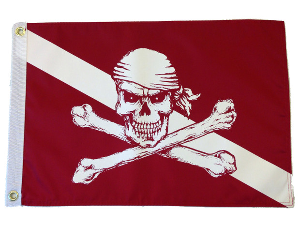 Diver Down Pirate Flag