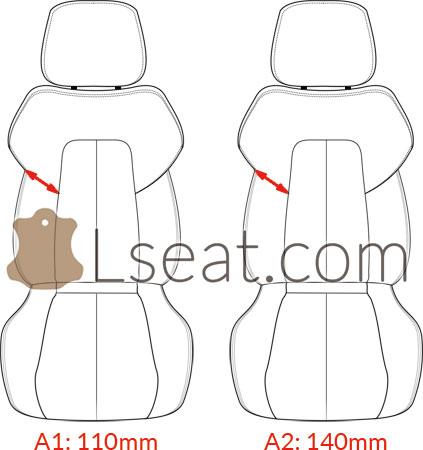 SLK230 SLK320 R170 seat pattern