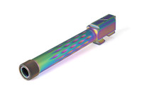 G17 Barrel, Flame Fluted, Threaded, Chameleon (Rainbow), 416-R, Nitride, Match Series