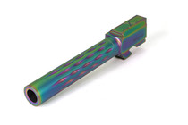 G17 Barrel, Flame Fluted, Chameleon (Rainbow), 416-R, Nitride, Match Series