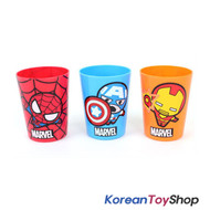 Marvel Avengers Plastic 3 pcs Cups Set Iron Man Spider Man Captain America
