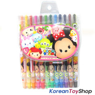 Disney TSUM TSUM 12 Colored Pencils Crayon Twistable Twist Up