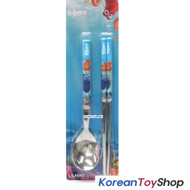 Disney Finding DORY Nemo Stainless Steel Simple Spoon Chopsticks Set BPA FREE