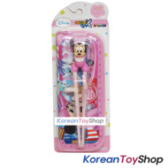 Disney-Mickey-Mouse---Minnie-Training-Chopsticks-&-Zipper-Case-Set