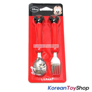 Disney-Mickey-Minnie-Mouse-Stainless-Steel-Spoon-Fork-Set--Mickey-Red