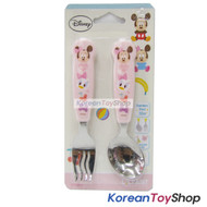 Disney-Mickey-Mouse-Stainless-Steel-Spoon-&-Noodle-Fork-Set-Kids-BPA-Free-PINK