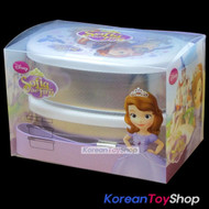 Disney-Sofia-the-First-Stainless-Steel-Lunch-Box-Round-Bento-2-Tiers-with-Band