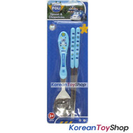 Robocar Poli Stainless Steel Spoon Chopsticks Set / BPA Fee / Made in Korea POLI