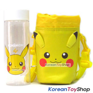 Pokemon Pikachu Model Clear Simple Bottle 500ml & Cover Bag w/ Shoulder Strip