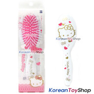 Hello Kitty Hair Cushion Brush Comb / Oval White Pink Color / Made in Korea