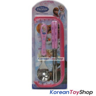 Disney Frozen Stainless Steel Spoon Chopsticks Case Set Pink BPA Free M. Korea
