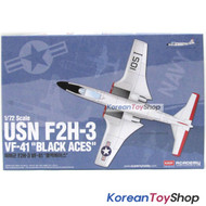 Academy 12548 1/72 Plastic Model Kit USN F2H-3 VF-41 Black Aces Made in Korea