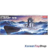 Academy 14203 1/150 Plastic Model Kit German Navy U-BOAT IXB, Motor Included
