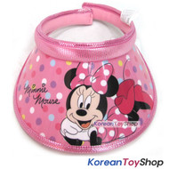 Disney Mickey Minnie Mouse Visor Hat Sun Cap Kids Girl Pink Designed Korea N.02