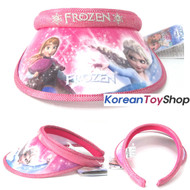 Disney Frozen Visor Hat Sun Cap Kids Girl Pink Color Anna Elsa Designed by Korea
