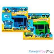 The Little Bus TAYO Diecast Plastic Toy Car - Tayo & Rogi Buses Set (2 pcs)