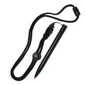 Pilot T1100-BLK-LN Cushion Tip Stylus with Neck Lanyard - Black
