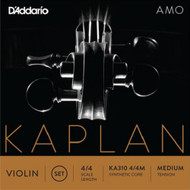 D'Addario Kaplan Amo Violin String Set, 4/4 Scale, Medium Tension